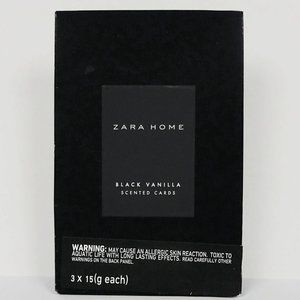 Zara Home Black Vanilla Scented Cards Closet